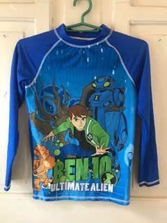 Ben ten rashguard for kids