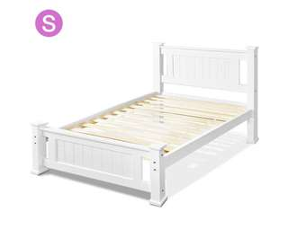 Single White Bed Frame