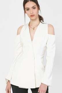 Eden Cut Shoulder Top in White