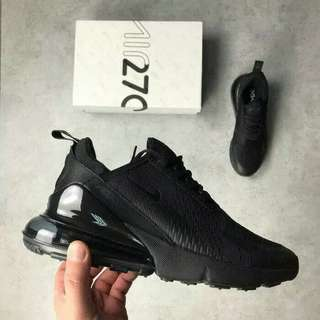 Nike Air Max 270 Triple Full Black High Premium Original