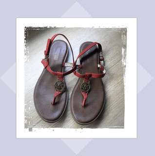 Repriced! 100% Original MK Sandals with Orange Straps