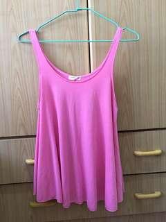 🚚 ✨全新✨粉紅色寬鬆背心上衣