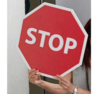 Stop Sign Compressed Foam