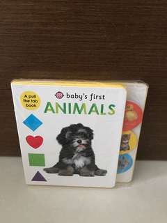 Free Postage - BN Baby's First Animals (A Pull The Tab Book)