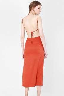 Naomi Slip Dress in Orange
