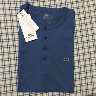 Original LACOSTE 5-Button Crew Neck Tee Shirt - 6/L