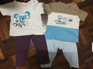 Pre-loved baby shirt & pants (1-2y)