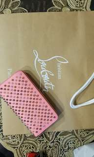 Last and final offer - Christian Louboutin Pink Panettone Spiked Clutch Wallet