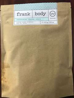 Frank body peppermint coffee body scrub