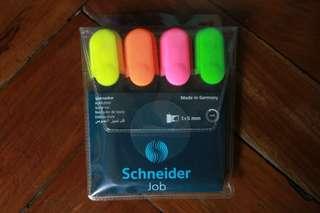 Schneider Job Chisel Tip Higlighters