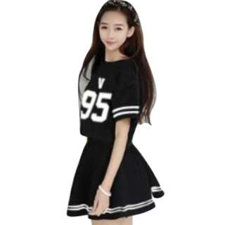 SET T-SHIRT SKIRT BTS BANGTAN BOYS