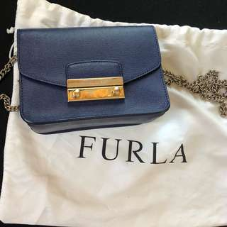Furla Metropolis Navy Crossbody Bag
