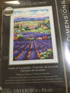 Fields of Lavender cross stitch kit by Dimensions