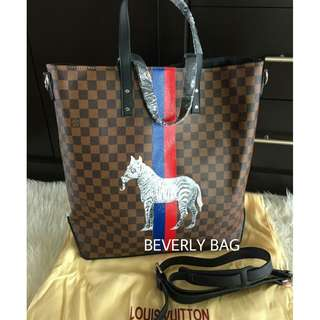 jual tas LV Zebra Blue Red Stripes MIRROR QUALITY - damier ebene