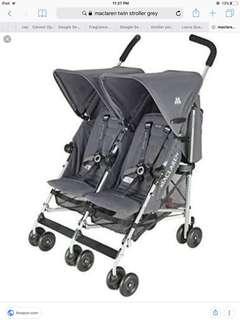 Mclaren twin stroller