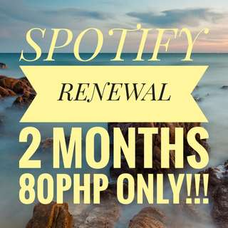 SPOTIFY 2 MONTHS RENEWAL (UNTIL SUPPLIES LAST)