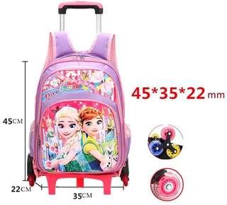 Frozen theme School trolley bag