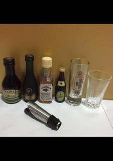 Miniature Baileys Remy Martin Jim Bean Guinness Stout