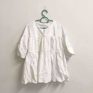 White tiered tunic