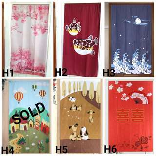 In Stock Door Curtain, Japanese Partition, FengShui Curtains