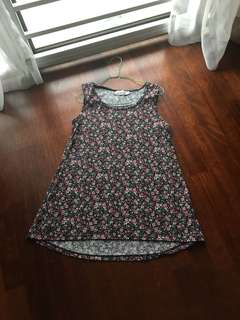Scarlet Sleeveless Floral Top