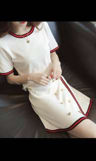 BN Korean style nanda knit one set tops and bottom military style