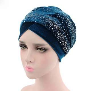 (PO) Muslimah velvet ringtone headband..