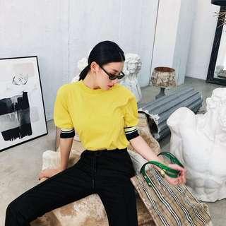 Minimei追加款✪韓系韓版歐美風百搭休閒 夏季新款韓版寬鬆純色tee百搭半袖T恤