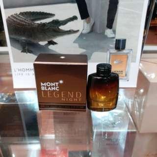 Original Parfum Montblanc Legend Night Mini Edp 4.5ml