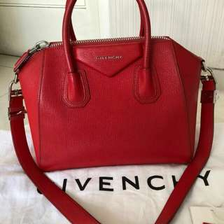 👉WOW - GIVENCHY Antigona Small Red Grained 2015 #jj