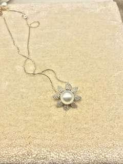 🌼型純銀南洋珍珠吊墜