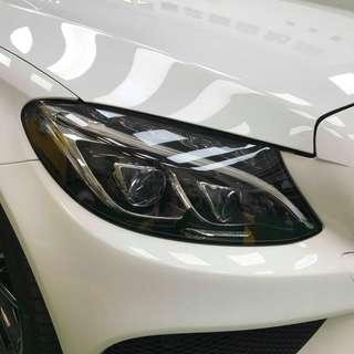 【騰信車體包膜】M-Benz w205美國頂級TPU犀牛皮保護膜包膜