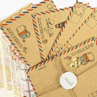 8 Pcs/set Retro Vintage Kraft Paper Envelopes Korean Stationery Gift