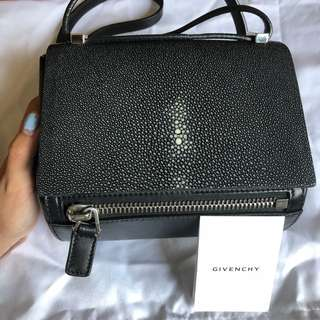 Givenchy Black Stingray and Nappa Pandora Box Mini Bag