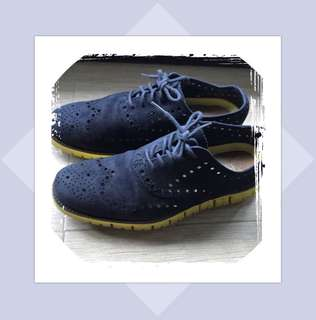 Repriced! Cole Haan Zerogrand Suede Wing-tip Oxford