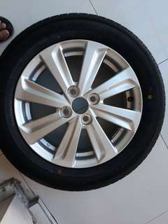 Toyoto Vios Brand new Tire and Mags