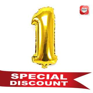"""32"""" Gold Silver Giant Number Foil Balloon"""