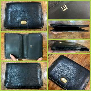 Dunhill Bi Fold Card Holder Black