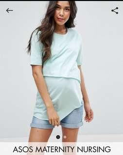 Asos Maternity Nursing Top Mint