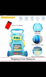 🌈Ready Stock🌈Baby Walker with English Learning Toys