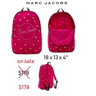 4a380106ae46f Brand New Authentic Marc Jacobs Printed Star Packable Backpack Fuchsia Pink
