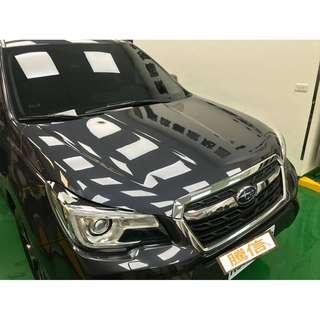【騰信車體包膜】Subaru Forester 引擎蓋美國頂級TPU犀牛皮保護膜包膜