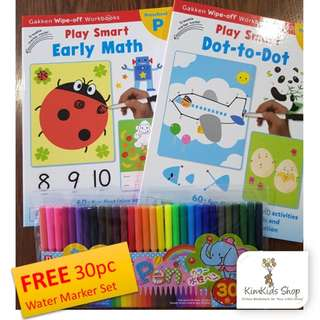 Play Smart (Set B) - Wipe clean Workbooks for Preschool (Math)
