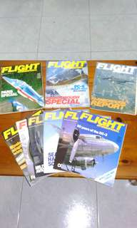 Vintage 1980's Flight International magazines set of 9.