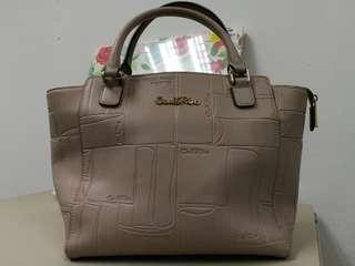 Handbag Carlo Rino beige colour