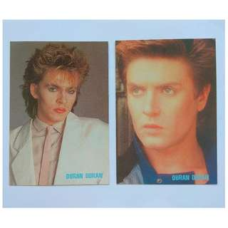 Rare Icon, Music Titans, British band Duran Duran, Postcards for Collector, Limited Edition, Nick Rhodes and Simon Le Bon, 2 Post Cards