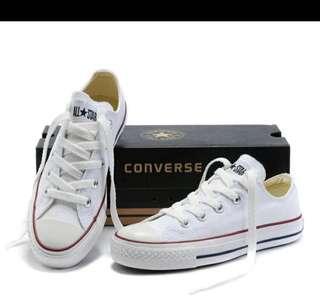 Converse White Canvas Shoes
