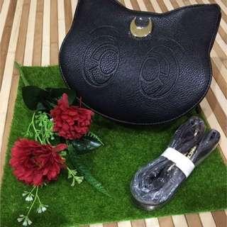 Cute Pretty Sailor moon sling bag handbag black Luna