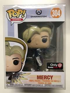 Funko Pop Mercy Cobalt Overwatch Gamestop Exclusive