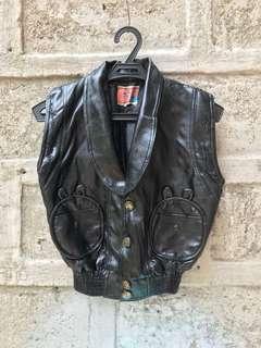Leather type Rock waistcoat